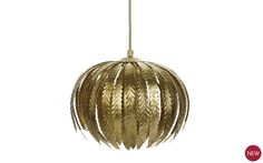 Laura Ashley Lisbeth Gold Leaf Pendant Light. Curved gold leaves create a nod to Art Nouveau style - add this touch of opulence to your home interior. #artnouveau