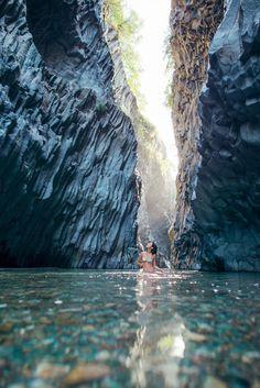 Alcantara Gorge via Gary Pepper #sicily #italy