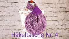 Groß und mit praktischen Knotenverschluss eignet sich diese Häkeltasche perfekt zum Shoppen. Crochet Hats, Youtube, Fashion, Knots, Bags, Knitting Hats, Moda, Fashion Styles, Fashion Illustrations