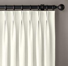 Custom Basket Weave Linen 2-Fold French-Pleat Drapery