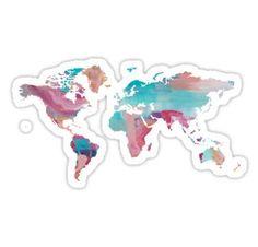 World Map - Paint Sticker