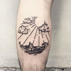Sea for Marcin ⛵️ Thanks for coming! Bookings info on my Facebook page (link in bio) #romaseverov #poland #warsaw #warszawa #circle #dotwork #linework #paperboat #sea #ztsyrena #landscape #landscapetattoo #geometry #pattern