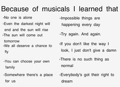 because of musicals! *Sighs dramatically and rolls eyes back in head for extreme, unexplainable love of theater*