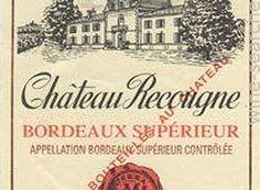 Rótulo do vinho Bordeaux Supérier