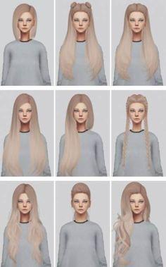 Lana CC Finds catplnt Semimini CC Dump Hair Recolors