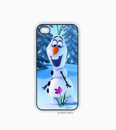 Snowman Iphone 5 Case, Iphone 5s case - Olaf Frozen, Hard Plastic Case, Free Shipping