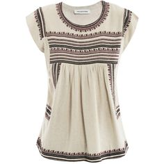 Isabel Marant Etoile Dumas embroidered top ($446) ❤ liked on Polyvore