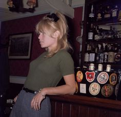 Brigitte Bardot in a London pub