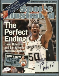 97a14710a Spurs David Robinson Authentic Signed 2003 Sports Illustrated JSA  F77233