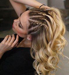 22 cute braid hairstyles - braids hair down , braided ponytail half up hairstyle. 22 cute braid hairstyles – braids hair down , braided ponytail half up hairstyle , braids ,hairstyle ideas Side Braid Hairstyles, Braided Hairstyles Tutorials, Down Hairstyles, Pretty Hairstyles, Hairstyle Ideas, Hairstyle Braid, Hairdos, Cornrow Hairstyles White, Braided Hairstyles For Short Hair