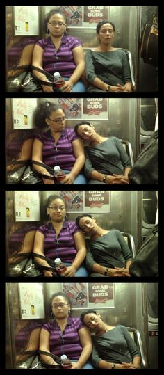 How Do You React When Someone Falls Asleep Against You In the Subway? - Album on Imgur