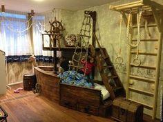 Пиратский корабль - детская кровать,детская,деревянная кровать,эксклюзивная детская