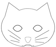 Printable Cat Mask and Template to Color  Cat mask Masking and