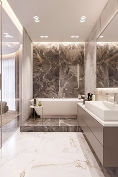 Bathroom Inspiration Modern Small Ideas – Home living color wall treatment kitchen design Bad Inspiration, Bathroom Inspiration, Interior Inspiration, Dream Bathrooms, Small Bathroom, Bathroom Ideas, Luxury Bathrooms, Bathroom Marble, Bathroom Designs