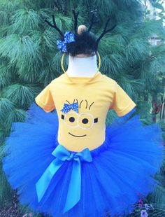 Minion Inspired Tutu Dress -  Girl Minion Costume -  Baby or Toddler by ChristiCreations