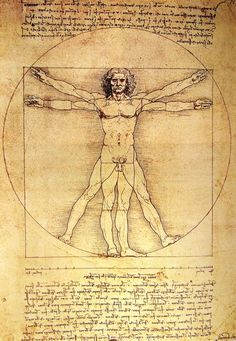 The Vitruvian Man, is a drawing by Leonardo da Vinci around The drawing is based on the correlations of ideal human proportions with geometry described by the ancient Roman architect Vitruvius in Book III of his treatise De Architectura. Vitruvian Man Tattoo, Da Vinci Vitruvian Man, Renaissance Kunst, Anatomy Art, Man Anatomy, Animal Design, Art And Architecture, Art History, Art Reference
