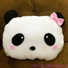 Decorative Pillow Adorable Panda Pillow by MimisCollectibows