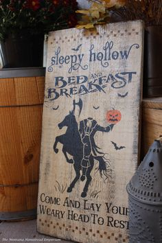 Hey, I found this really awesome Etsy listing at https://www.etsy.com/listing/201873431/sleepy-hollow-bed-and-breakfast-sign