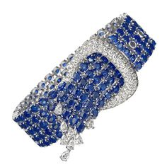 Sapphire and Diamond Buckle Bracelet