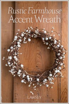 Bring nature indoors with this cheerful wreath that gives your space a cozy minimalist touch • Add an accent of charming rustic farmhouse style to any room and decor-challenged spaces like bathrooms • Create a unique gallery wall by incorporating this wreath as a focal point • Bring your personal style to the table by using this petite size faux berry wreath as plate chargers or centerpieces