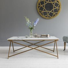 Stellar White Marble Coffee Table, £389, Atkin and Thyme