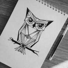 Black Pen Sketches, Black Pen Drawing, Doodle Art Drawing, Art Sketches, Owl Drawings, Tattoo Sketches, Owl Sketch, Ink Pen Art, Hand Lettering Art
