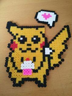 Ein süßer Pikachu aus Bügelperlen :) Leider ist das Ohr ab