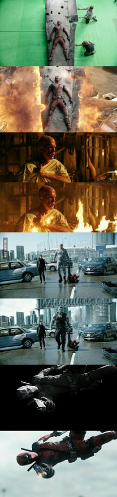 Check out these BEFORE AND AFTER Deadpool Visual Effects! DAMN!