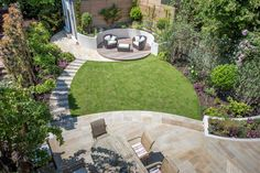 Urban Garden Design Medium-sized back garden design in Wandsworth, 9