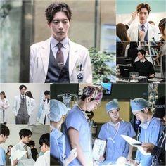 "The staff of ""Doctor Stranger"" has released some brand new behind the scenes shots of Park Hae Jin on set! Lee Jong Suk Doctor Stranger, Film Doctors, Lee Minh Ho, Park Haejin, Korean Entertainment, Drama Korea, Attractive Men, Behind The Scenes, Movie Tv"