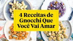 Receitas super inovadoras e deliciosas de gnocchi! Gnocchi, Cheese, Youtube, Homemade Pasta, Delicious Recipes, Savory Snacks, Cook, Ideas, Close Up