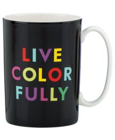 This awesome mug made Macy's top ten gifts for her! kate spade new york Mugs Collection - - Macy's
