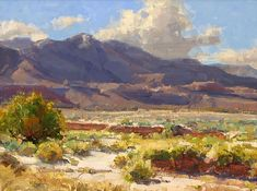 Desert Wash and Rabbit Brush by Kathryn Stats - Greenhouse Gallery of Fine Art