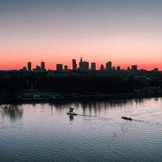 Warsaw Skyline Warsaw City, Natural Wonders, Homeland, Fun Facts, New York Skyline, River, Nature, Backgrounds, Naturaleza