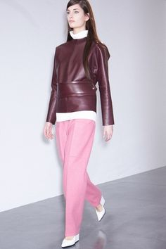 Celine-Fall-2012-Berry-Red-Color-Trend  #leather #leathershirt