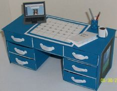 Desk for teacher by dgreenx2 - Cards and Paper Crafts at Splitcoaststampers