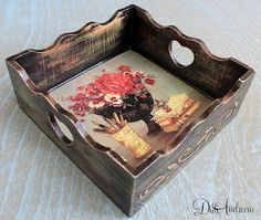 Handmade and decorated with  DECOUPAGE technology  by ArtDidi