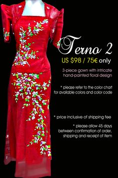 a modern take to the classic Filipiniana a modern take to the classic Filipiniana Modern Filipiniana Gown, Filipino Fashion, Formal Wear, Formal Dresses, Formal Tops, Traditional Dresses, Evening Gowns, Designer Dresses, Floral Design