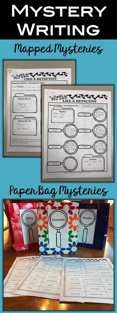 Add a little writing to your mystery unit! Visit enjoy-teaching.com for ideas on mapped mysteries, paper bag mysteries, and more. Your third grade, fourth grade, or fifth grade kids will love it.