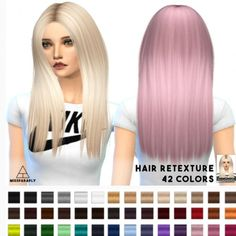 Miss Paraply: Alesso 50′s hairstyle retextured for Sims 4