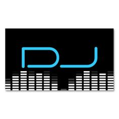 Techno Gradient DJ Business Cards Music Themed Business Card - Dj business card template