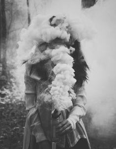 smoke, black and white, photography