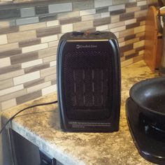 """Our tiny heater warms the trailer up pretty well on chilly nights.  Saves the propane!  #toastywarm…"""""""