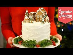 Alternative Double Chocolate Forest Fruit Christmas Cake recipe | Cupcake Jemma - YouTube