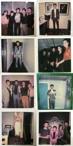 Collage of Harry's polaroids photo book.