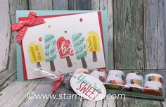 Cool Treats Product suite is a Tasty Treat for Frozen Treats.  #stampinbj.com