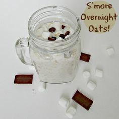 Smore Overnight Oats - yum! Gonna have to try this one day.