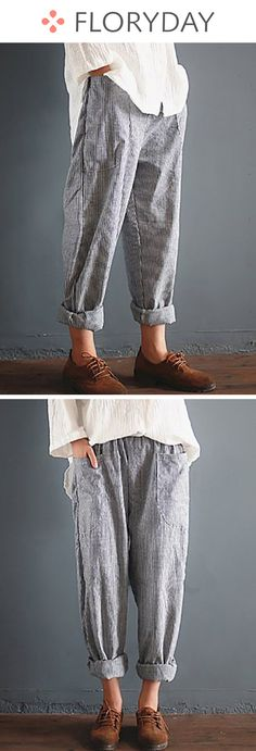 Straight Cotton Pants Pants & Leggings, stylish, cotton pants, straight pants, fashion, casual