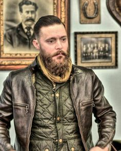 Himel brothers Kensington cafe racer jacket made of horse hide