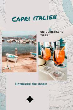 Entdecke Capri nicht wie alle anderen Touris, die täglich die Insel überlaufen, sondern ganz individuell! Hier efährst du wie. #capri #italien #italienreise Reisen In Europa, Alcoholic Drinks, German, Hotels, Travel, Travel Inspiration, Capri Italy, Day Trips, Tourism